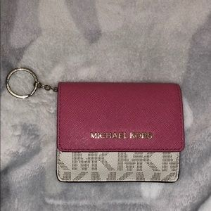 Used Michael Kors keychain wallet
